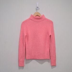 J.Crew NWT Neon Pink Wool Blend Mock Neck Sweater